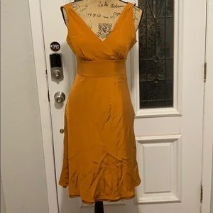 J Crew Citrus Orange Silk Dress